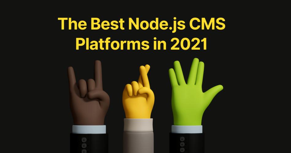 node js cms platforms