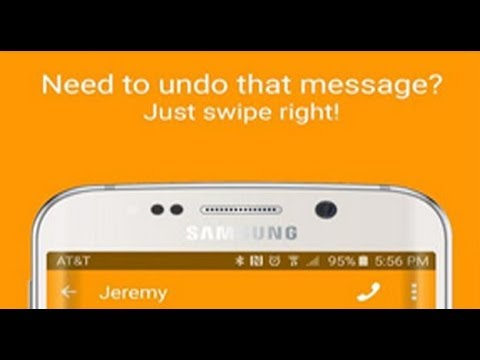 unsend text message on android
