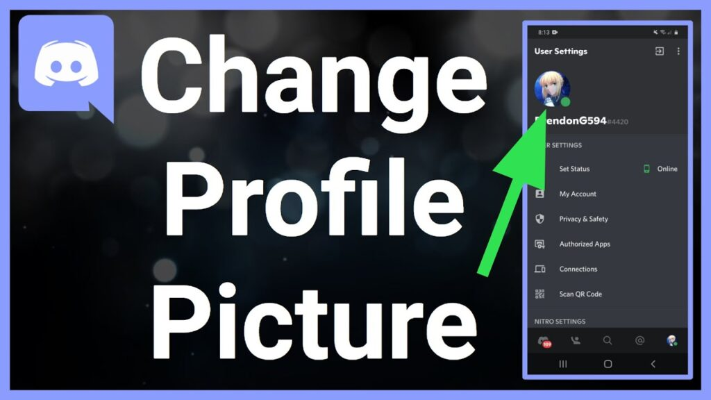 How to change your Profile Picture on Discord Mobile