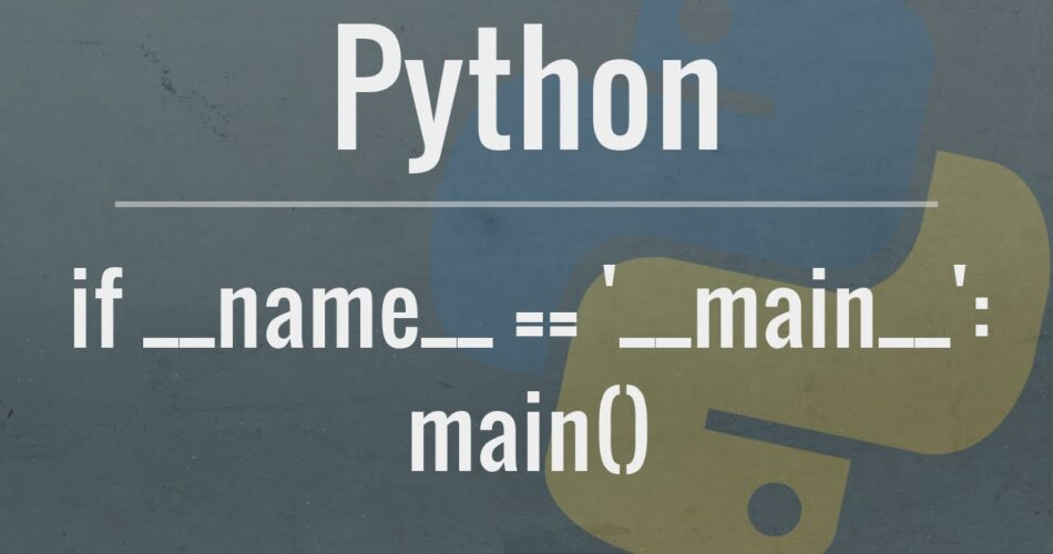 """What does if __name__ == """"__main__"""": do?"""